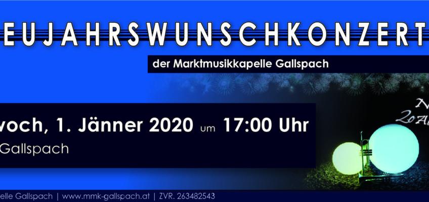 Einladung Neujahrswunschkonzert 2020
